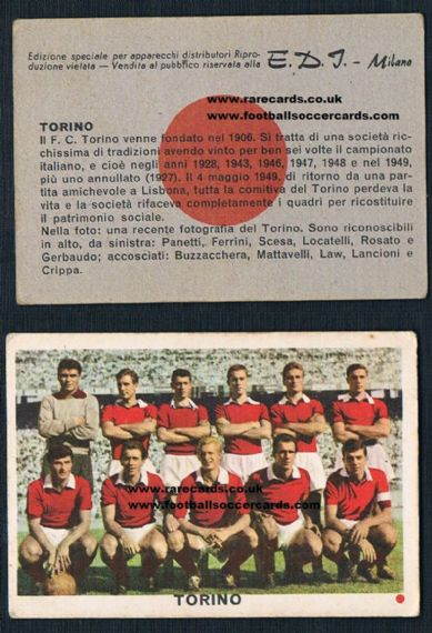 1961 Denis Law Torino RED spot EDI